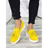 Женские туфли лоферы замша желтого цвета 7274-28, фото 5