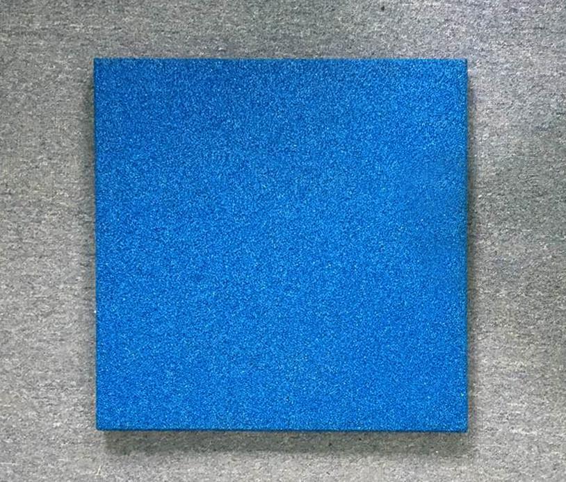 Резиновая плитка Стандарт 50 мм голубая