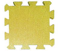 Резиновая плитка Puzzle 20 мм желтая