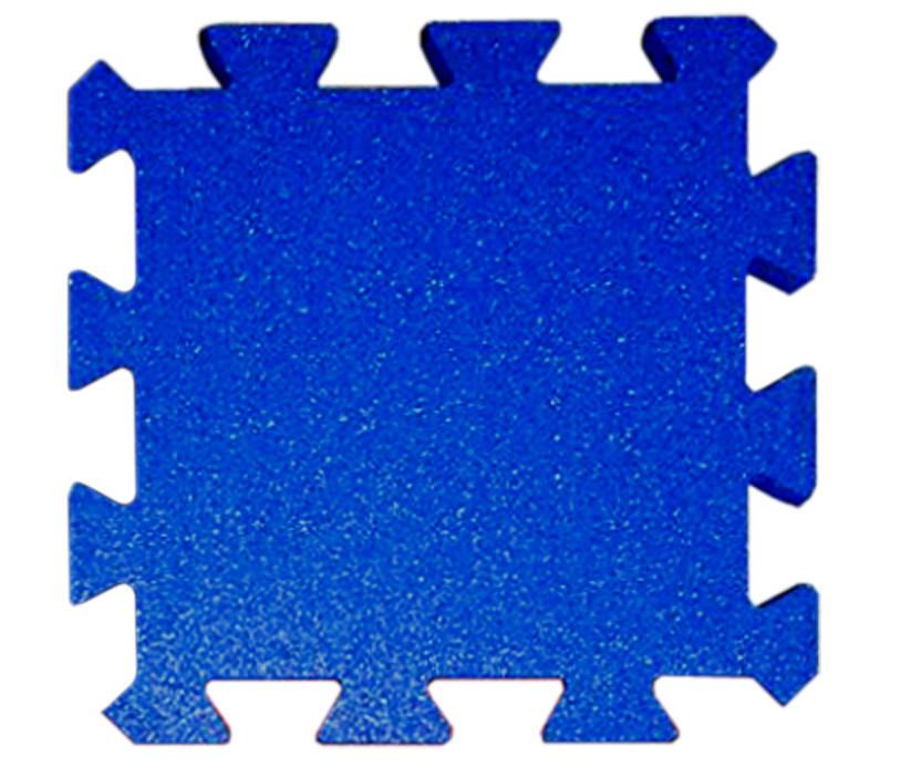 Резиновая плитка Puzzle 20 мм синяя