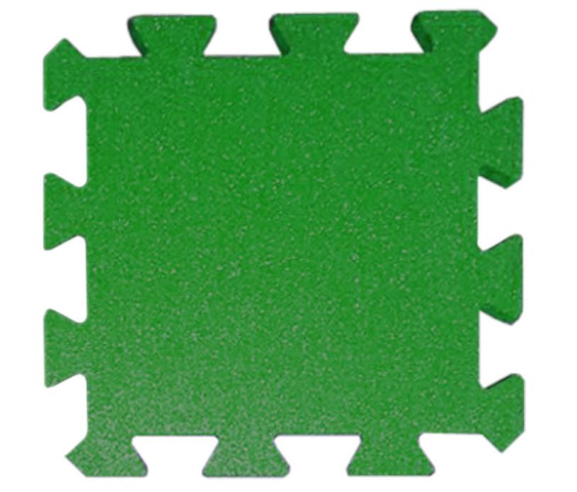 Резиновая плитка Puzzle 30 мм темно-зеленая