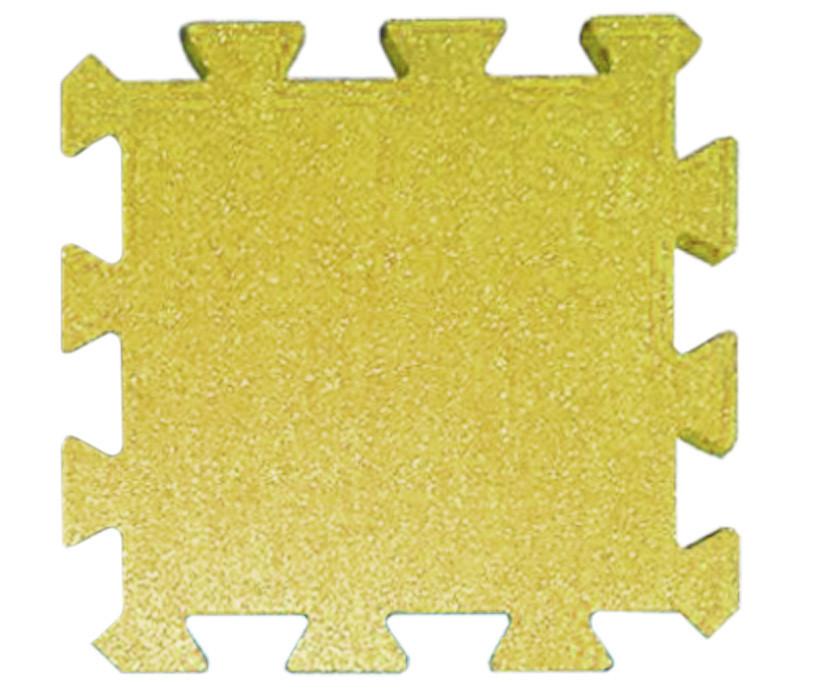 Резиновая плитка Puzzle 30 мм желтая