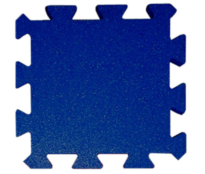 Резиновая плитка Puzzle 40 мм темно-синяя