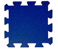 Резиновая плитка Puzzle 40 мм темно-синяя, фото 1