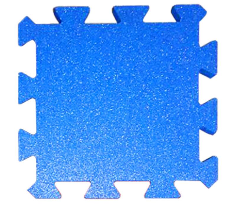 Резиновая плитка Puzzle 40 мм голубая