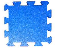 Резиновая плитка Puzzle 40 мм голубая, фото 1