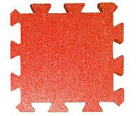 Резиновая плитка Puzzle 40 мм красная, фото 1