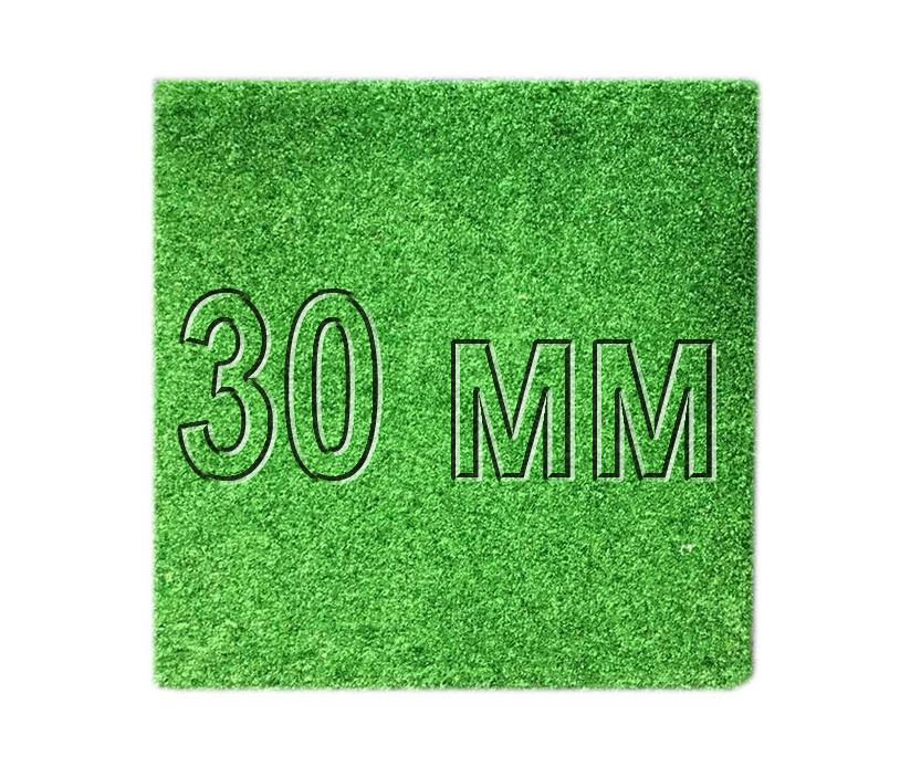 Резиновая плитка с искусственной травой Decor 30 мм