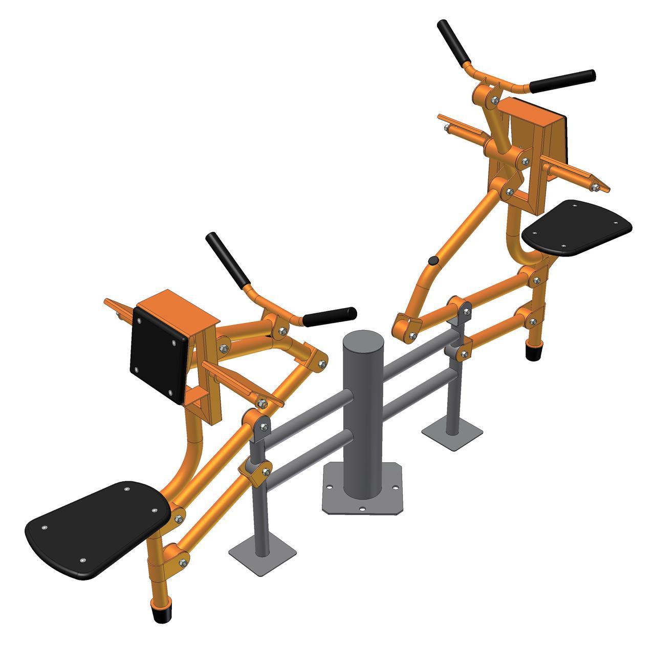 Тренажер для мышц бицепса двойной