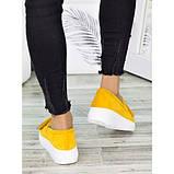 Жіночі туфлі лофери гірчичного кольору натуральна замша 7280-28, фото 4