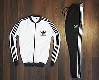 Спортивный костюм мужской Adidas 2020 xх black-white весенний осенний ЛЮКС