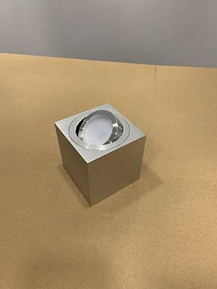 """Серый светильник """"Куб"""" с направлением света, фото 2"""