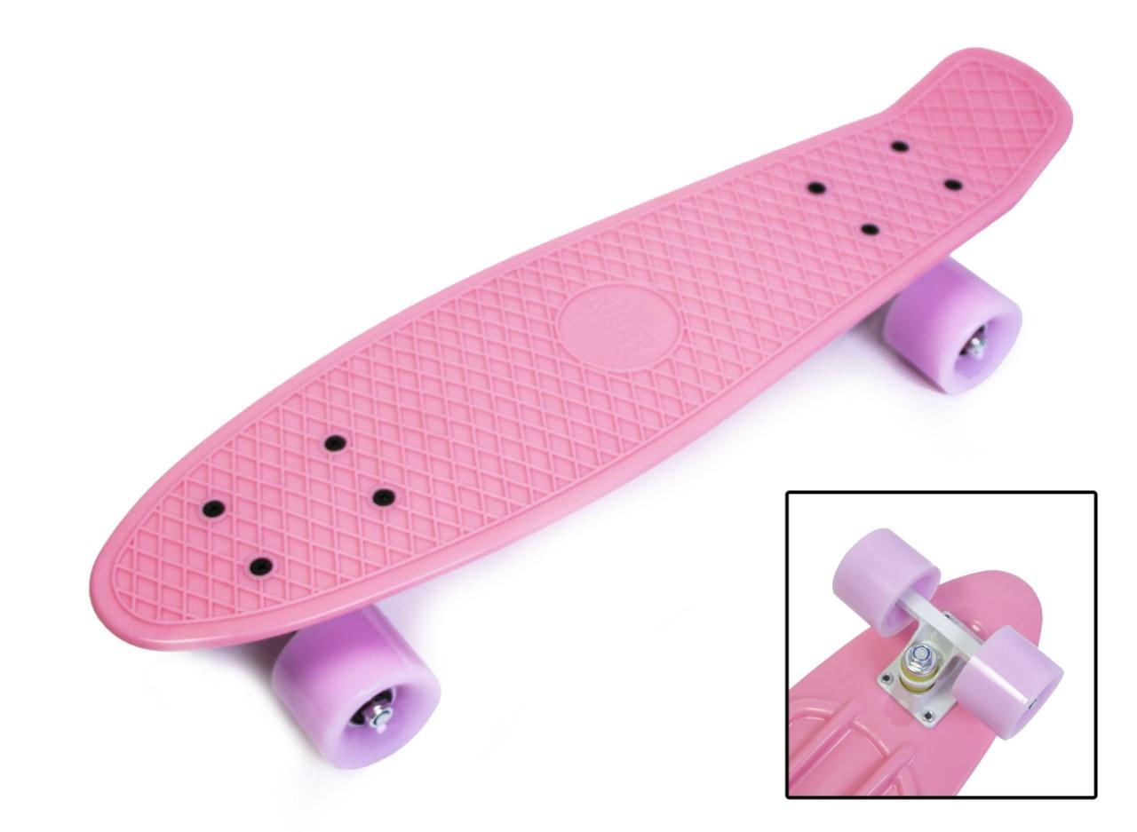 "Скейт - Пенни борд Penny Board ""Pastel Series"" Нежно-розовый цвет."