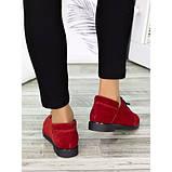 Женские туфли красные замшевые 7258-28, фото 2