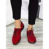 Женские туфли красные замшевые 7258-28, фото 3