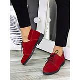 Женские туфли красные замшевые 7258-28, фото 4