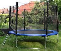 Батут GreenLight диаметром 312см (10ft) спортивный для детей с лестницей и внешней сеткой