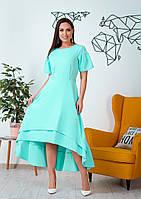 Ассиметричное платье с воланами
