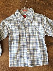 Модная рубашка для мальчика на длинный рукав
