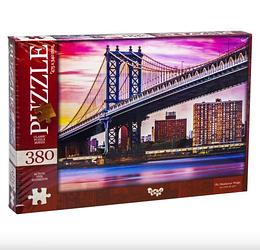 Пазли 380 елементів.Пазли Манхеттенський міст Нью-Йорк, США 380 елементів Dankotoys.