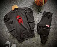 Спортивный костюм Дед Пул черного цвета, фото 1