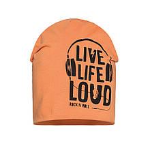 Детская шапка для мальчика BARBARAS Польша CB110 / C Оранжевый весенняя осенняя демисезонная