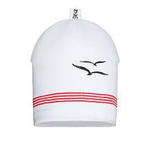 Детская шапка для мальчика BARBARAS Польша TB69 / 0 Белый весенняя осенняя демисезонная