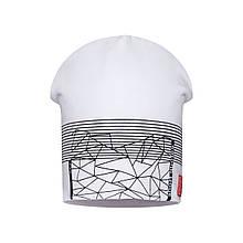 Детская шапка для мальчика BARBARAS Польша CB114 / C Белый весенняя осенняя демисезонная