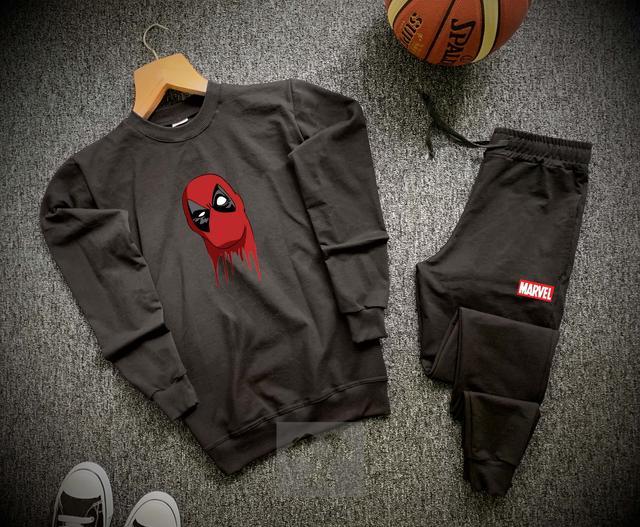 Спортивный костюм Дед Пул черного цвета фото