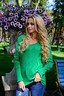 Женский  свитерок .Цвет - .зеленый ( 42-48-один универсальный)