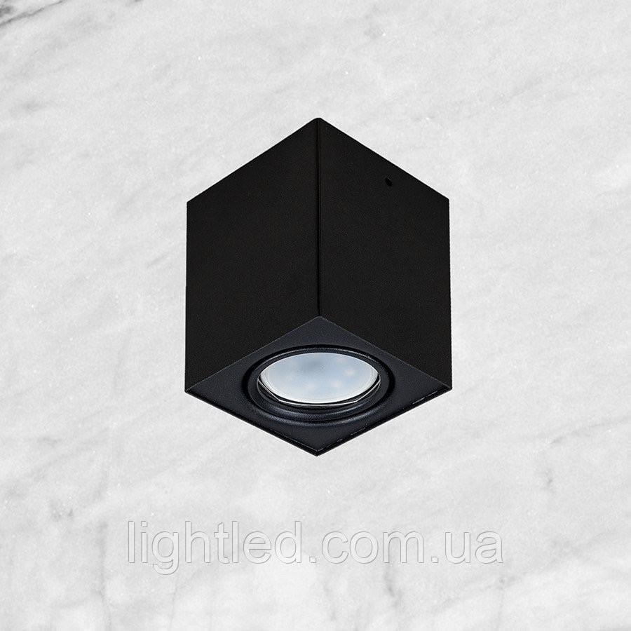 """Чёрный светильник """"Куб"""" с направлением света"""