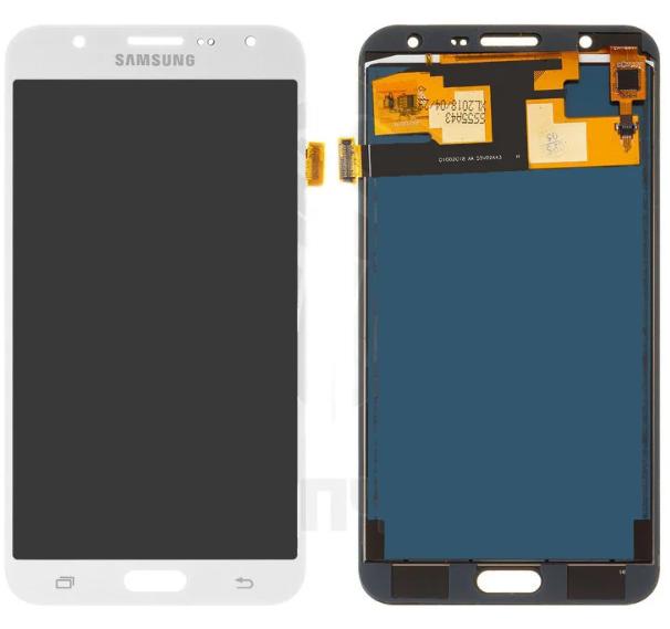Дисплей (экран) для Samsung J700F DS Galaxy J7 с сенсором (тачскрином) белый с регулировкой (TFT)