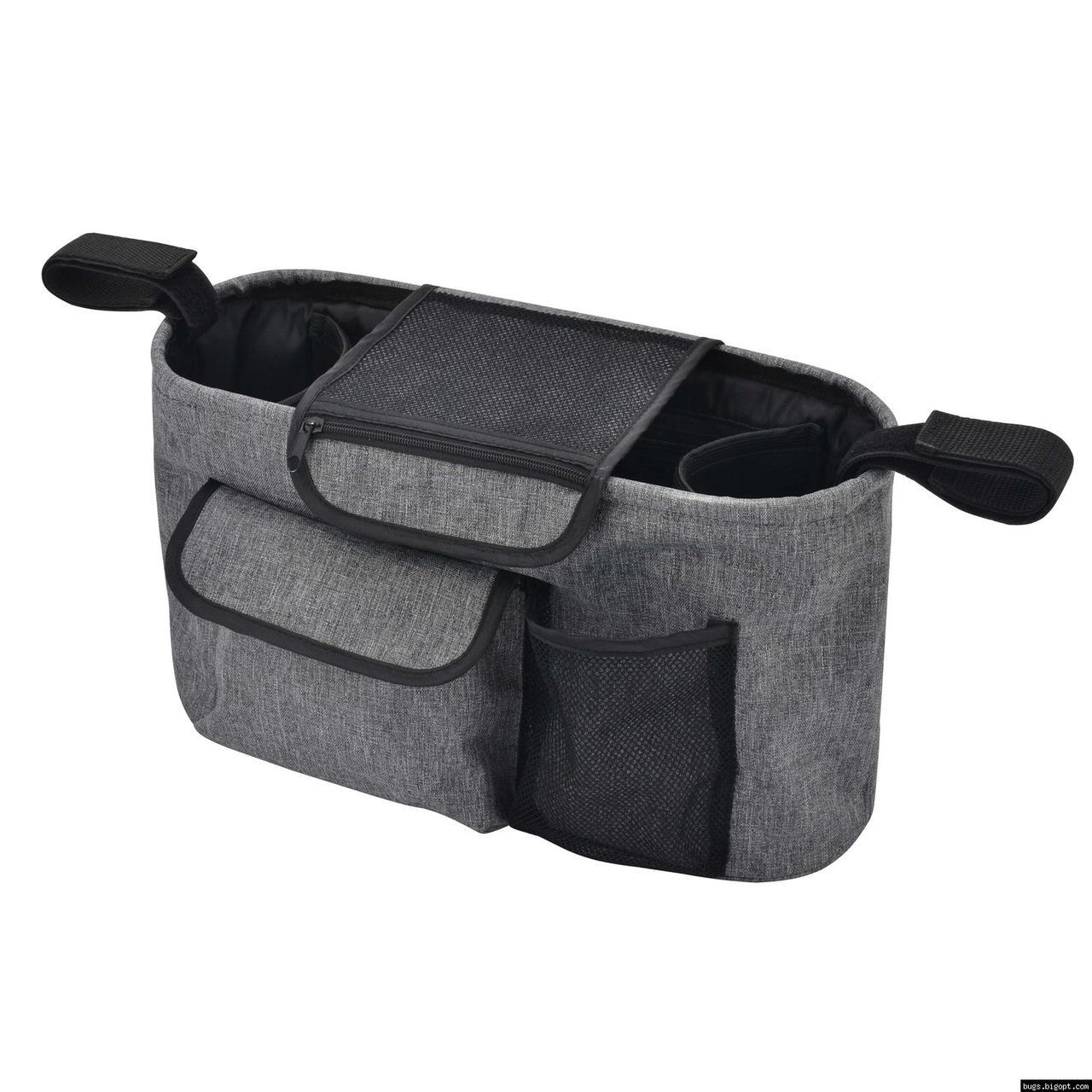 Универсальная сумка органайзер на коляску Bugs Серая (6901319001051)