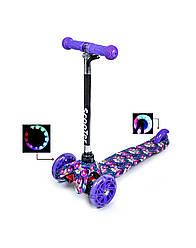 """Самокат светящиеся колеса  Mini Scooter """"Орхидея"""""""