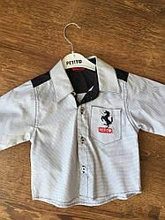 Модная белая рубашка для мальчика