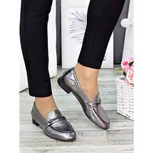 Жіночі туфлі шкіряні сатин Пеггі 7277-28