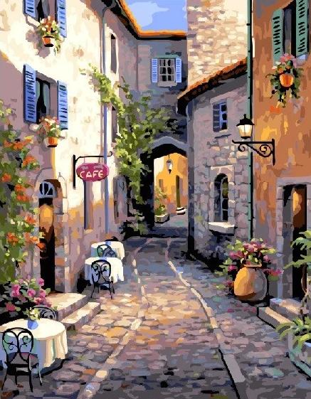 Картина по номерам Brushme Тихая улочка