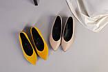 Бежеві шкіряні балетки, фото 10