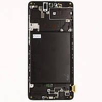 Дисплей Samsung A715 Galaxy A71, Black | с сенсорным экраном (тачскрин) и рамкой, Super AMOLED, оригинал