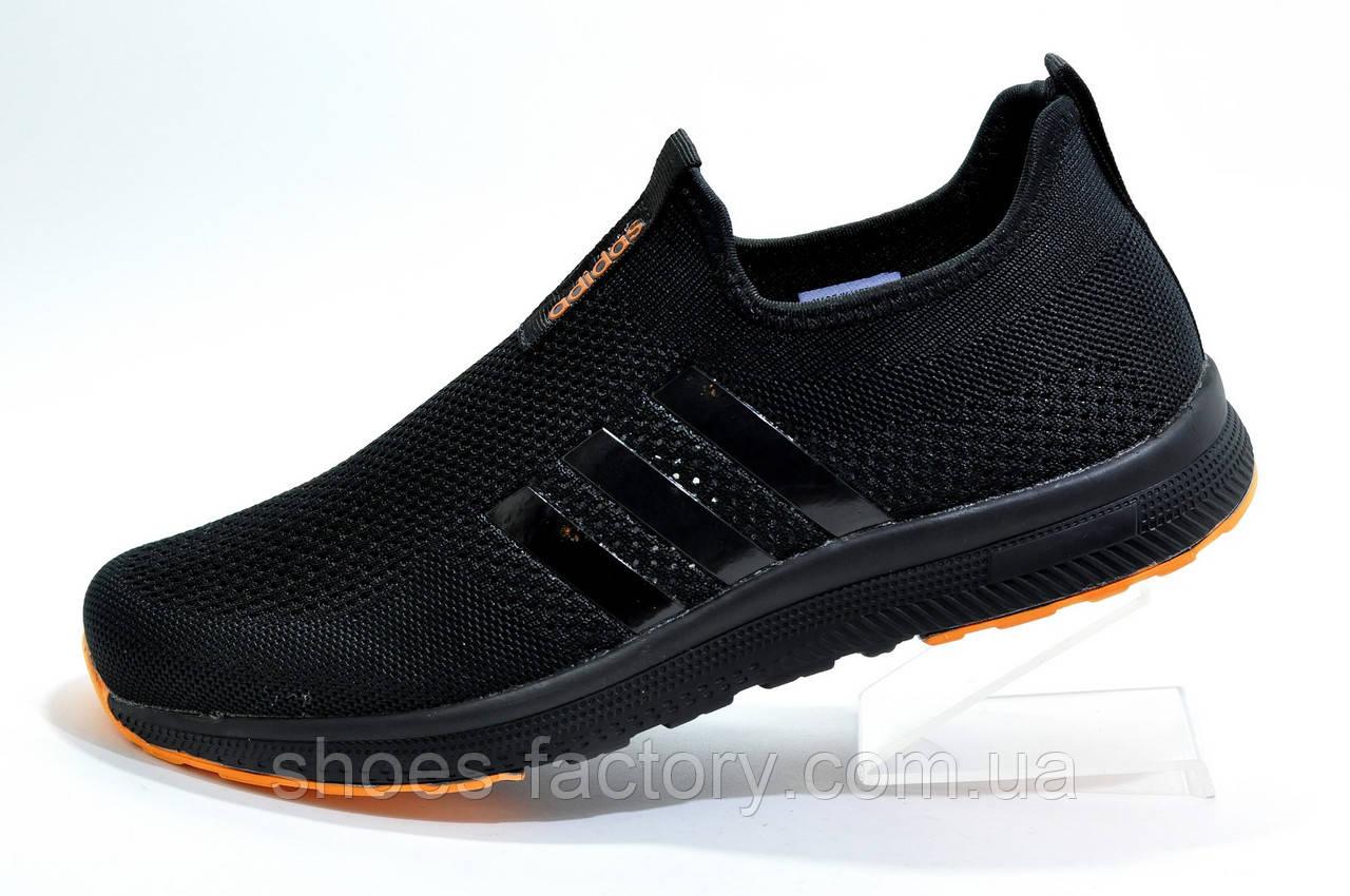 Летние кроссовки в стиле Adidas, Black\Orange
