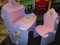 """Детская парта для девочек """"Маленькая фея"""" W 010-1 со стульчиком"""
