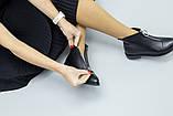 Демисезонные женские черные кожаные ботинки, фото 8