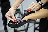Демисезонные женские черные кожаные ботинки, фото 10