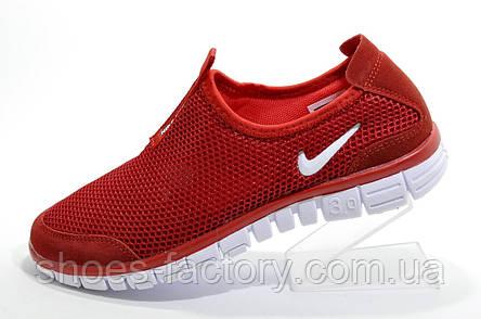 Летние кроссовки в стиле Nike Free Run 3.0, Red (Slip On), фото 2