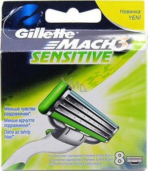 Сменные кассеты для бритья Gillette Mach 3 Sensitive