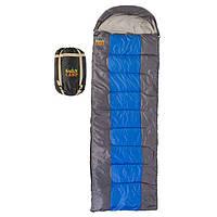 Спальник GreenCamp, одеяло, 450гр/м2, серый-синий, GRC1009, фото 1