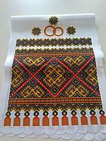 Рушник свадебный орнамент с кольцами, фото 1