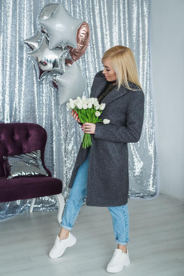 Пальто женское букле фото