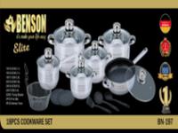 Набор посуды Набор кастрюль из нержавеющей стали Benson BN-197 18 предметов набор кастрюль