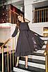 Платье женское с рюшиками в горох Черный, фото 3